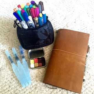 planners, journals, gratitude, midori, travelers notebook, art journal, art supplies, colored pens, colored markers