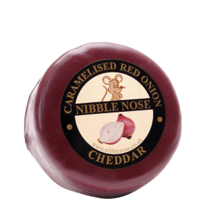 caramelised red onion cheese nibble nose