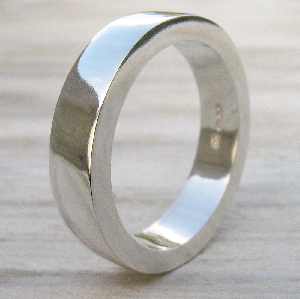 Chunky Silver Ring Plain Sterling Silver Rings By Lilia Nash