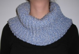 Ladies Crochet Stonewash Blue DenimStyle Cowl