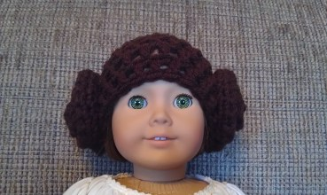 Princess Leia-Inspired Doll Hat