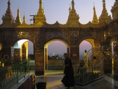 Mandalay hill with monk Dhamma