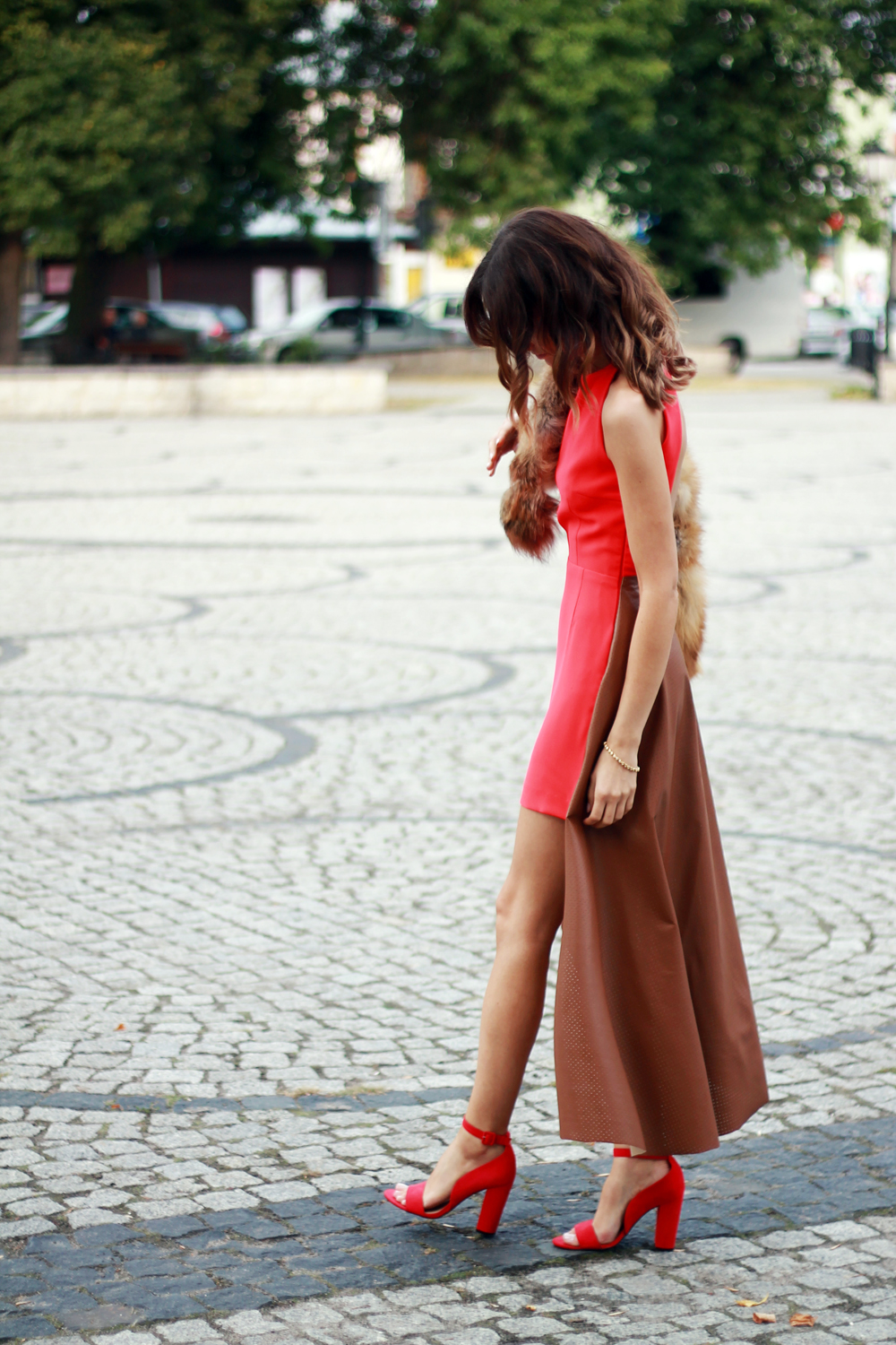red dress original chic outfit clothes tumblr fashion girl