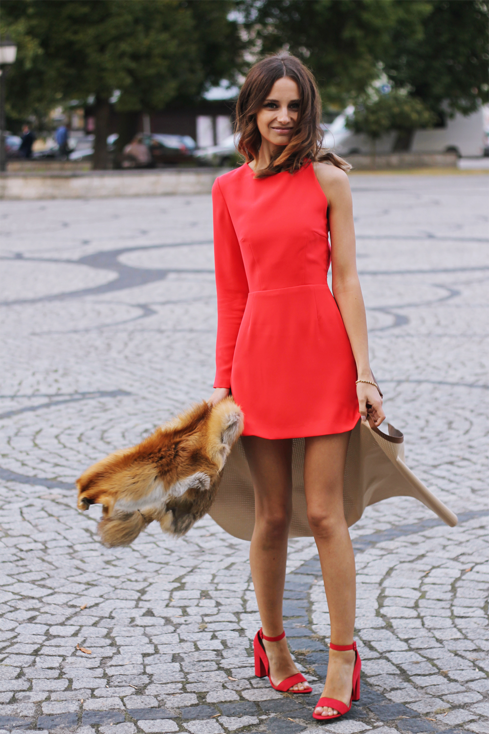 red dress original chic outfit clothes tumblr girl vogue lookbook ootd party look lilicons style fashion