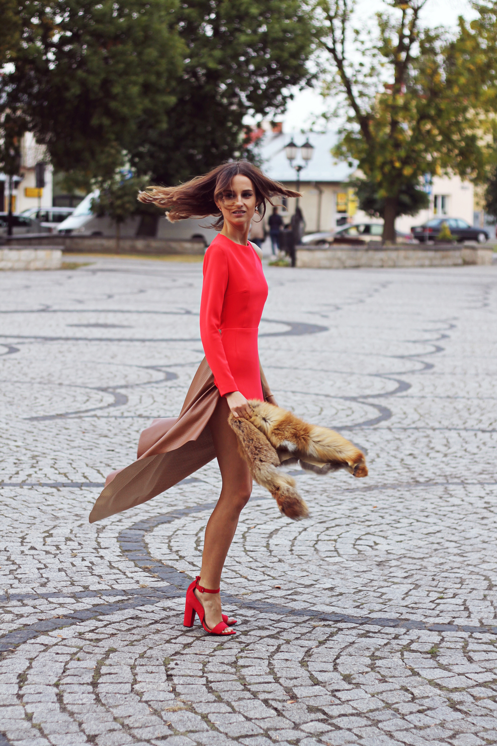red dress original chic outfit clothes tumblr girl vogue lookbook ootd party look