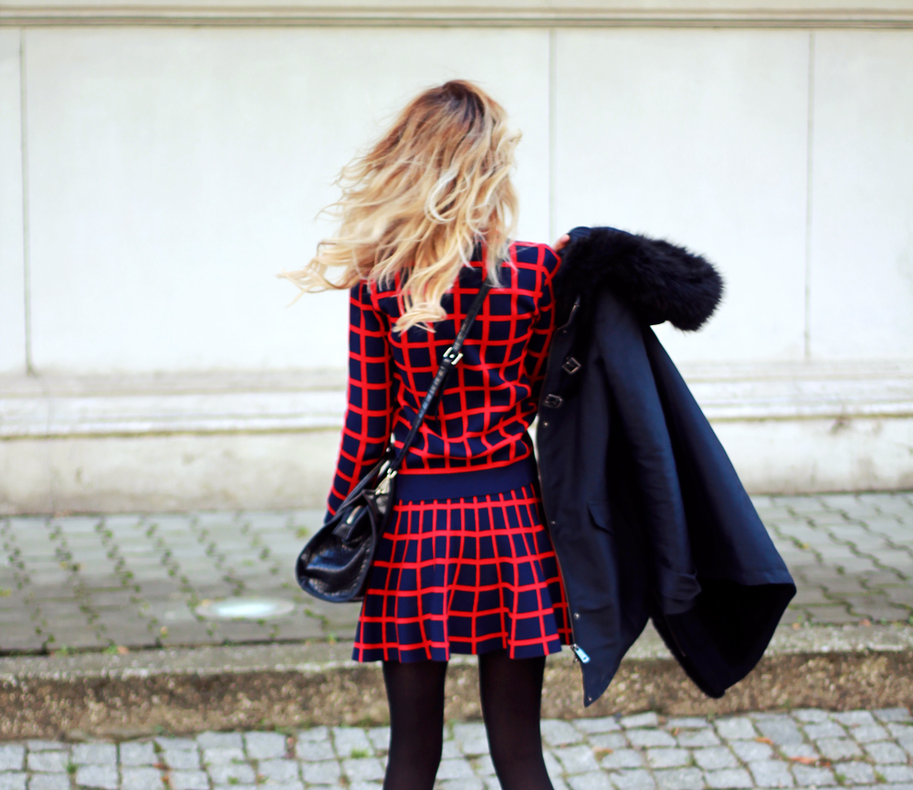 blonde fashion blogger girl look combo outfit street style tumblr winter outfit