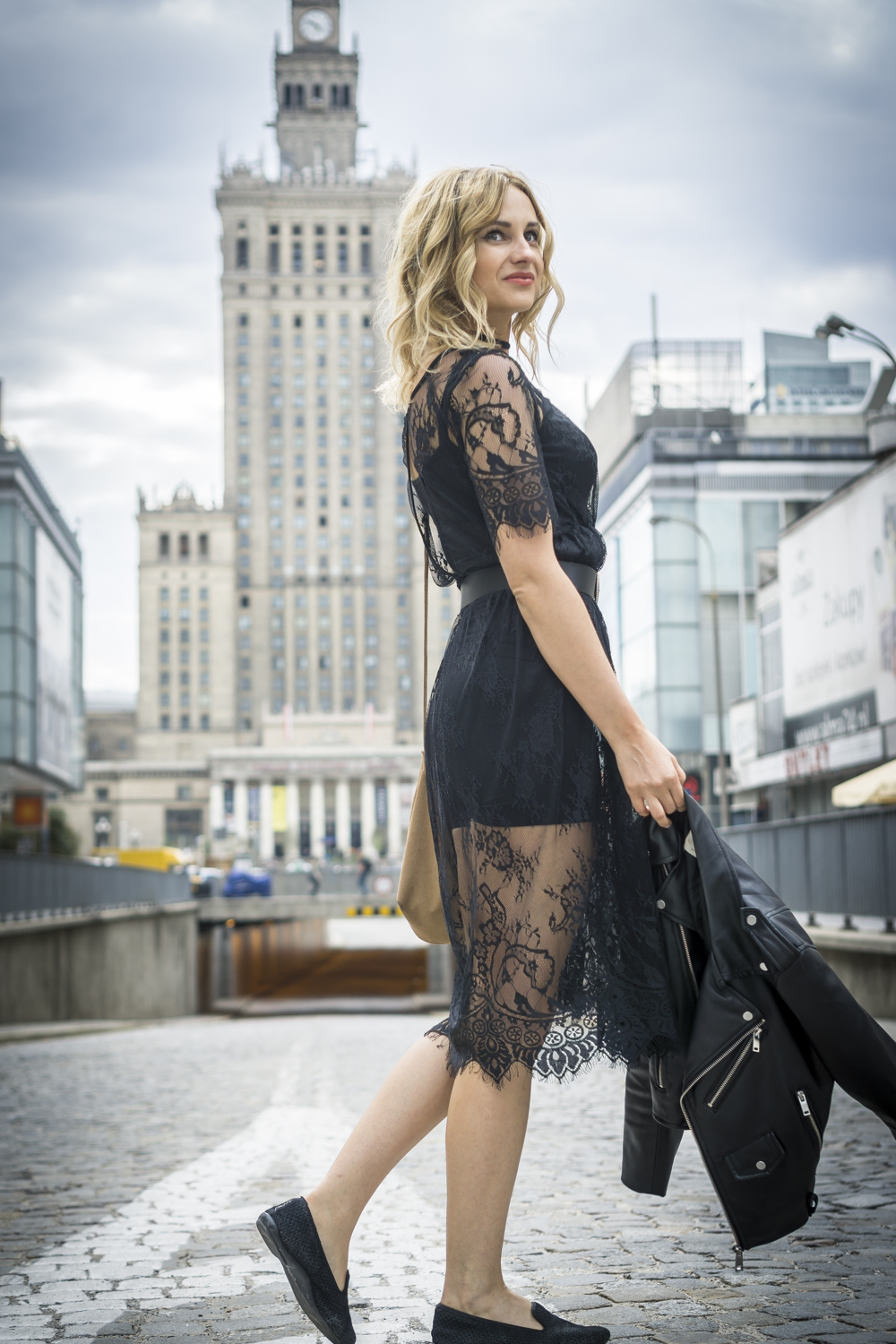 black lace dress casual chic street style fashion blonde tumblr girl look it girl lookbook ootd vogue