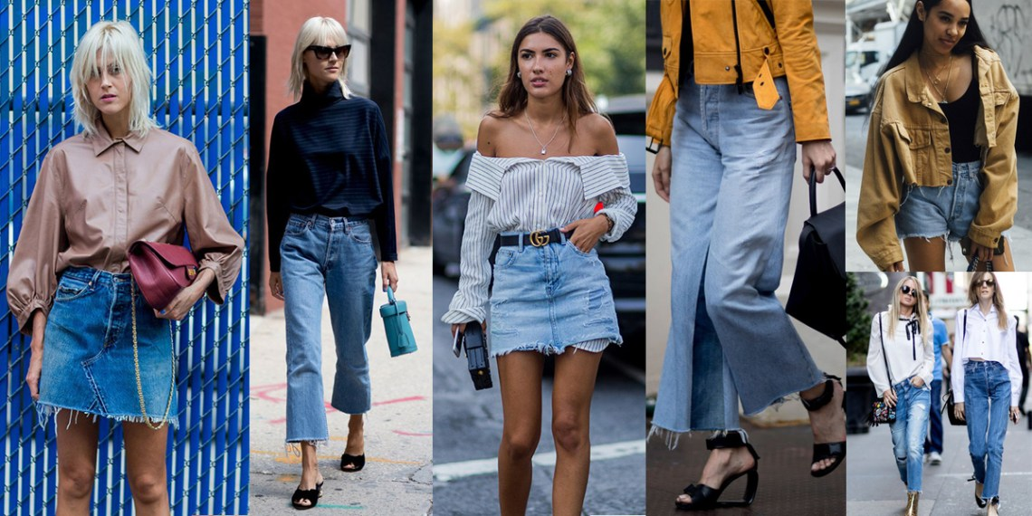 nyfw-2017-best-street-style-trends-ootd-cutted-light-denim-clothes