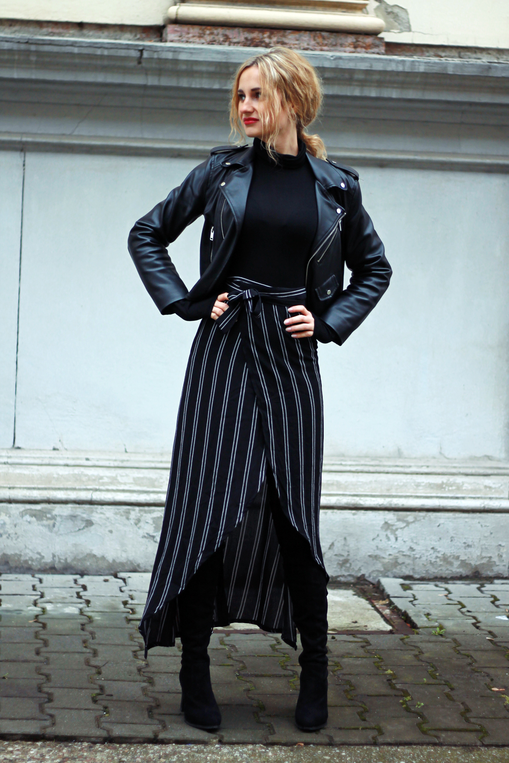style street fashion high girl ootd autumn outfit boots lookbook wear look clothes