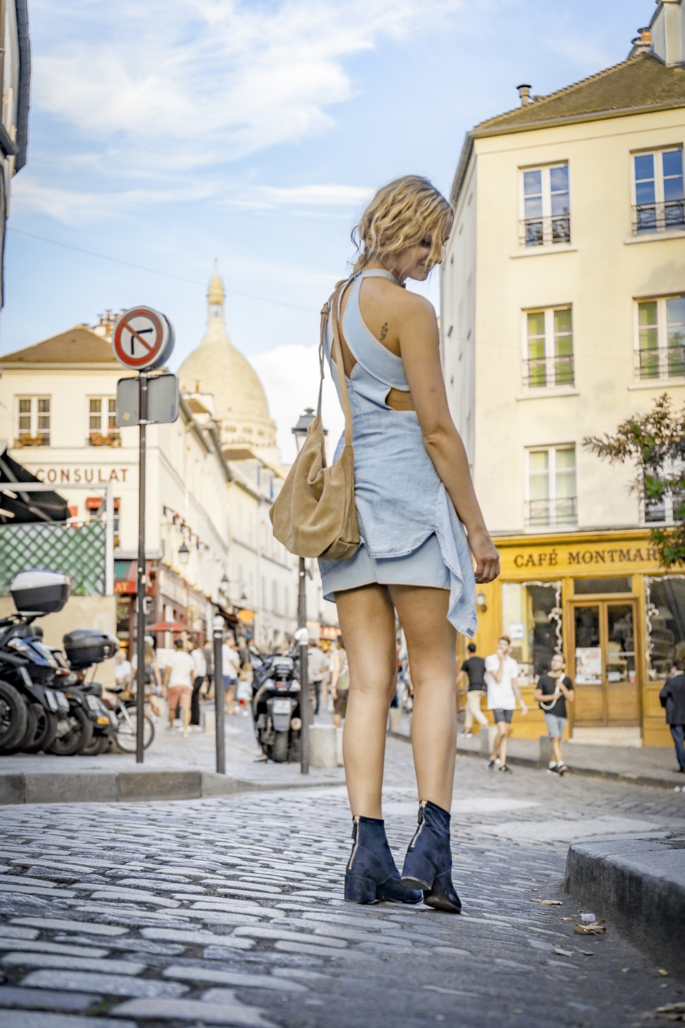 blue-dress-mini-denim-mango-shirt-hm-shoes-navy-boots-ootd-lookbook-look-outfit-blonde-tumblr-girl-paris-street-style-fashion-clothes