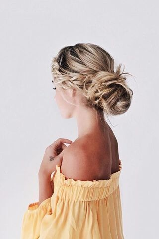 braids inspiration tumblr pinterest hairstyle beautiful hair bun blonde girl 9
