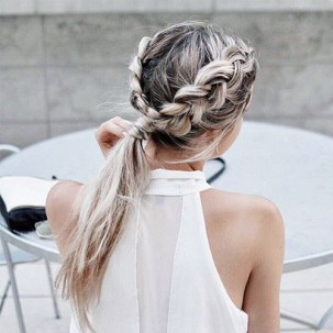 braids inspiration tumblr pinterest hairstyle duch braids pony inspo long blonde hair girl
