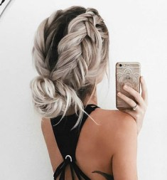 braids inspiration tumblr pinterest hairstyle messy bun braid inspo long blonde hair girl