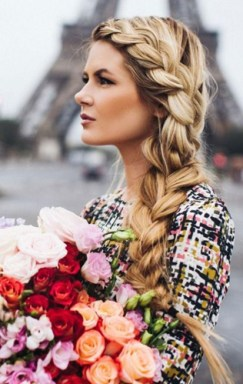 braids inspiration tumblr pinterest hairstyle side braid inspo blonde long