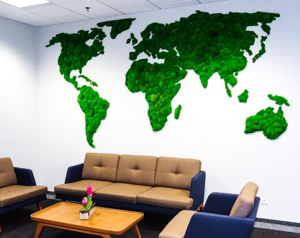 interior design moss wall world map design project ogrod wertykalny pl
