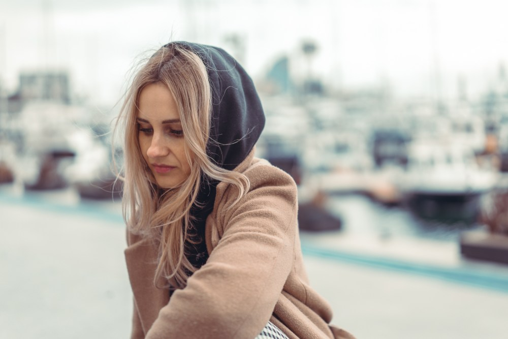 blonde hipster girl portrait