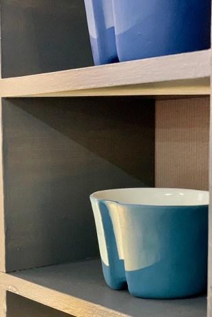 Tasse bleue café Sandra Gasnier