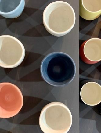 petits pots colorés céramique Edith Luthier