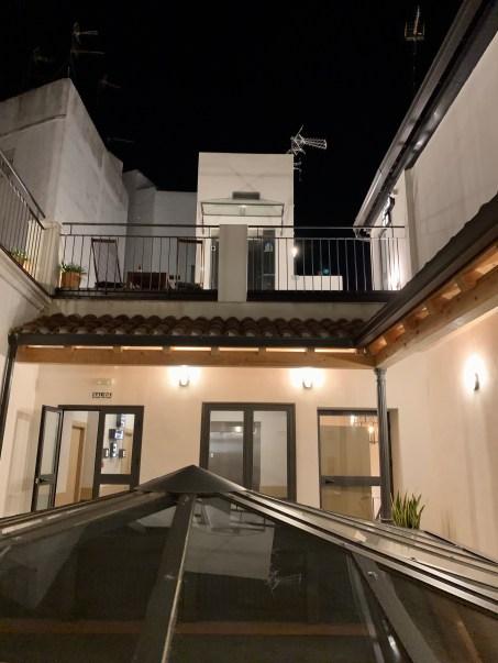 Four You Hostel Sevilla by night