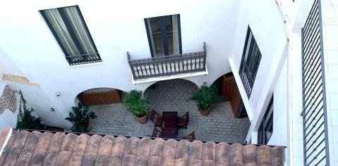 vue sur cour intérieure For You Hostel