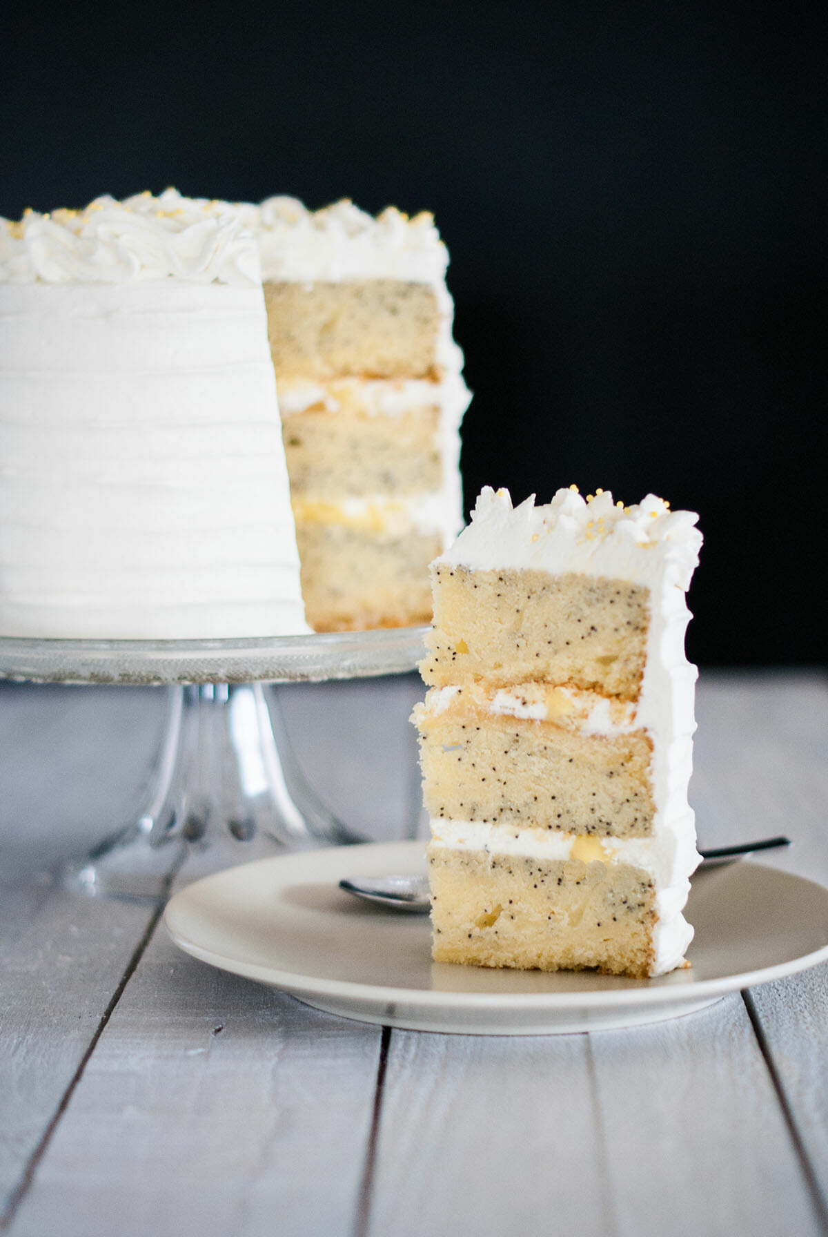 Layer Cake Citron Pavot Lilie Bakery