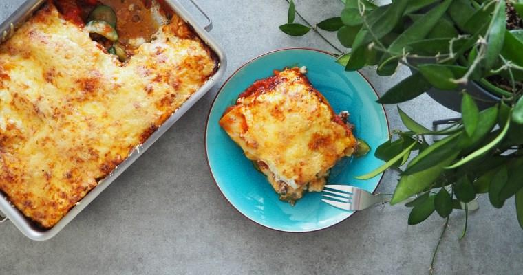 Lasagne au boeuf et à la courgette #italien