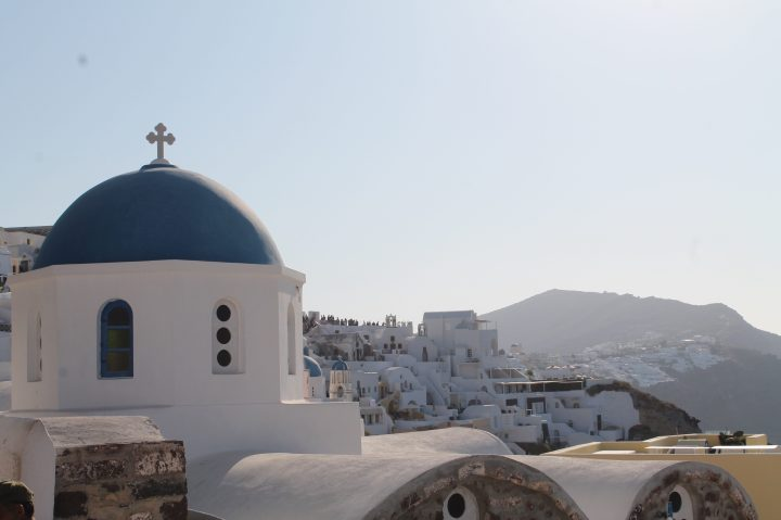 Cyclades: Vue sur Fira, Santorini, été 2019