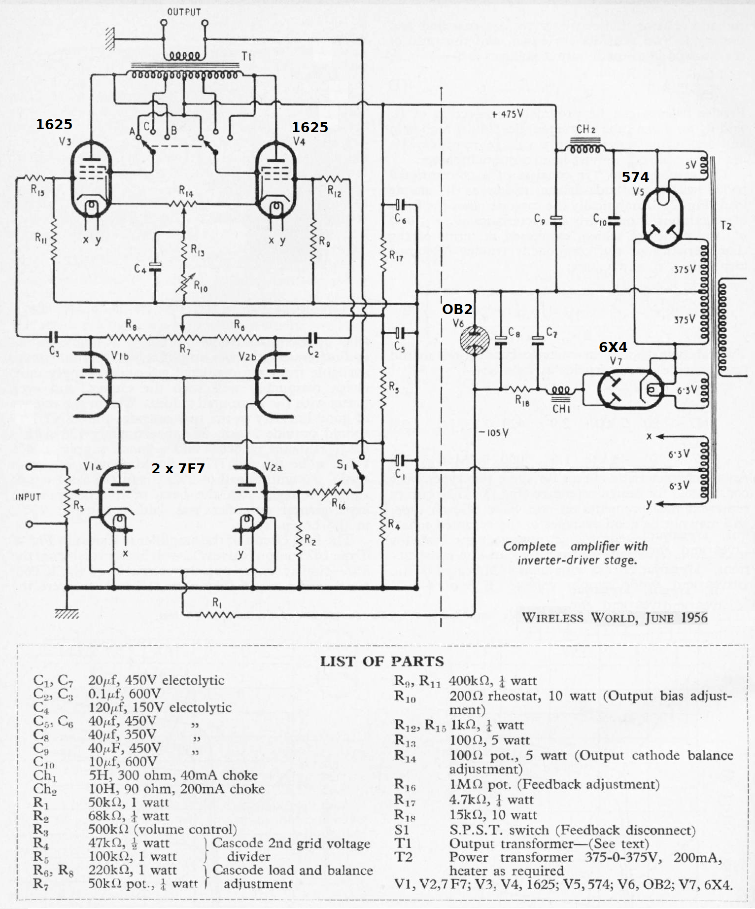 Schematic Besides Push Pull Tube Amplifier On 807