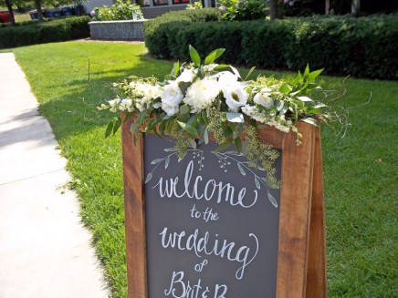 Sign with Flowers