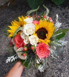 Sunflower and Rose Bouquet