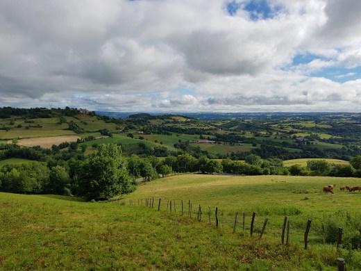 Paysage entre Livinhac le Haut et Figeac