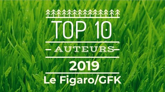TOP 10 des auteurs les plus vendus en 2019 Le Figaro/GFK