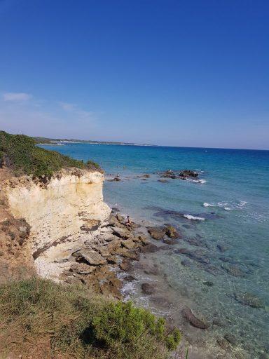 Baia del turchi - sublime plage dans les Pouilles en Italie