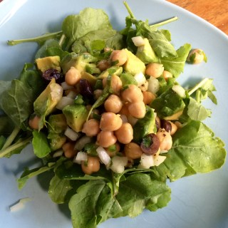 Avocado Chickpea Arugula Salad
