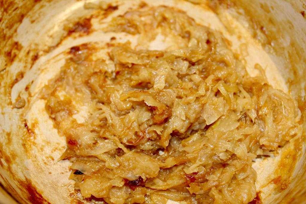 Onions fully caramelized