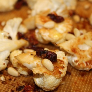 Roasted Lemon Cauliflower with Sundried Tomatoes and Pine Nuts