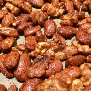 Pumpkin Pie Spiced Almonds and Walnuts