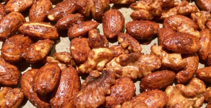 Pumpkin Pie Spiced Almonds and Walnuts