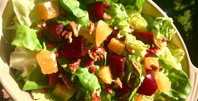 Beet Orange Pomegranate Salad