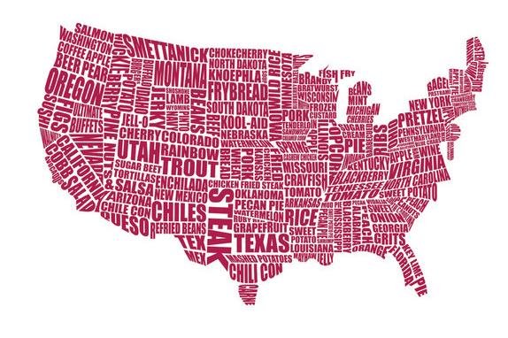 Mappa gastronomica America
