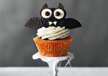 Halloween food cupcake