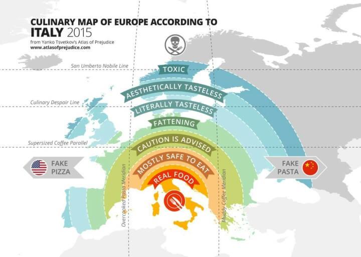 mappa culinaria degli italiani