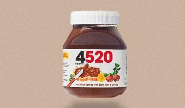 calorie Nutella