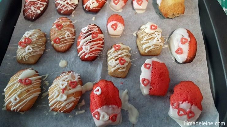 Madeleines di san valentino