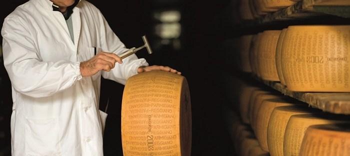 Parmigiano Reggiano esperto battitore