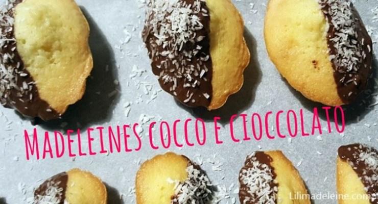 Madeleines cocco e cioccolato