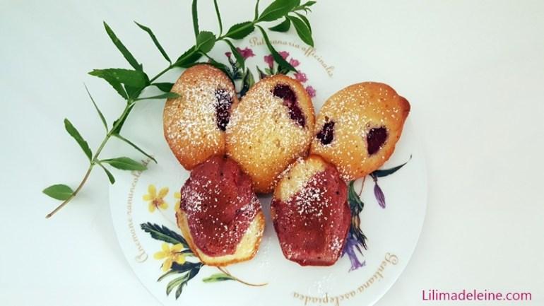 madeleines ai lamponi