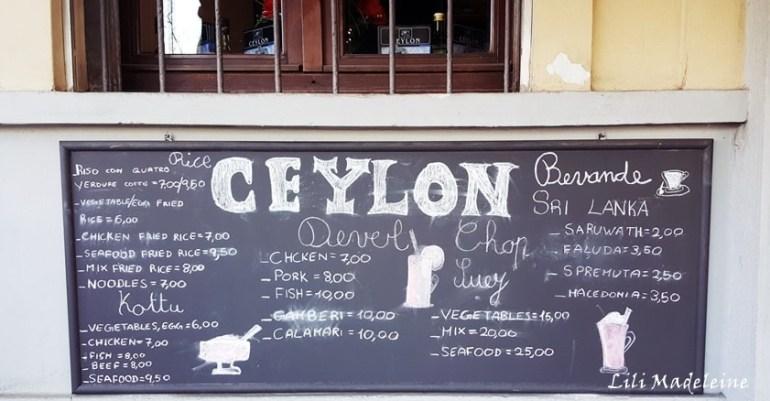 Ceylon ristorante Sri Lanka milano piazza Firenze