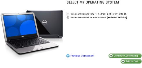 Dell Inspiron Mini 12 now available with Windows XP or Ubuntu Linux