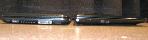 Left: HP Mini 1000 / Right: Asus Eee PC 1008HA